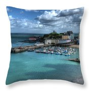 Tenby Harbour Throw Pillow