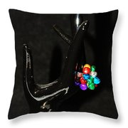 The Black Hand Throw Pillow
