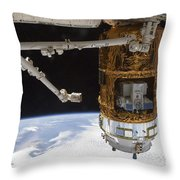 The Japanese H-ii Transfer Vehicle Throw Pillow