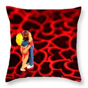 The Lovers In Valentine's Day Throw Pillow