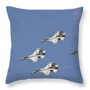 The U.s. Air Force Thunderbirds Fly Throw Pillow