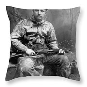 Theodore Roosevelt Throw Pillow