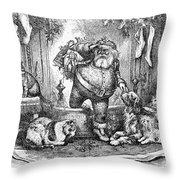 Thomas Nast: Santa Claus Throw Pillow