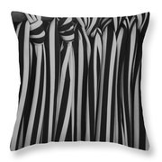 5 Ties In Black And White Throw Pillow