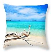 Tropical Beach Malcapuya Throw Pillow