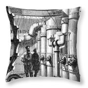 Verne: 20,000 Leagues Throw Pillow by Granger