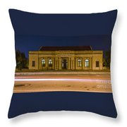 50 Years Past Train Time Throw Pillow
