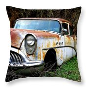 50's Cruiser Of The Past Throw Pillow by Steve McKinzie