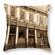 Leadenhall Market London Throw Pillow