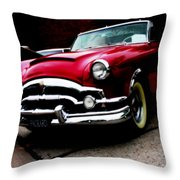 53 Packard Caribbean Convertible Coupe Throw Pillow
