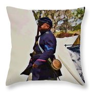 54th Massachusetts Throw Pillow