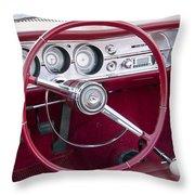 55 Chevy Ss Dash Throw Pillow