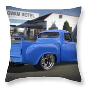 56 Studebaker At The Wigwam Motel Throw Pillow