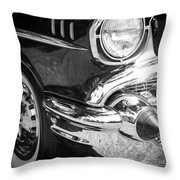 57 Chevy Black Throw Pillow by Steve McKinzie