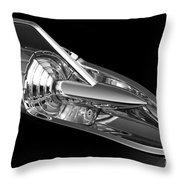 '57 Chevy Hood Chrome Throw Pillow