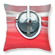 '57 Chevy Hood Ornament 8508 Throw Pillow