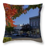5th And G Street In Grants Pass With Text Throw Pillow