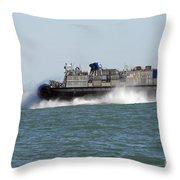 A Landing Craft Air Cushion Prepares Throw Pillow