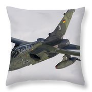 A Luftwaffe Tornado Ids Over Northern Throw Pillow