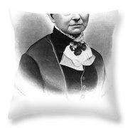 Amelia Bloomer (1818-1894) Throw Pillow