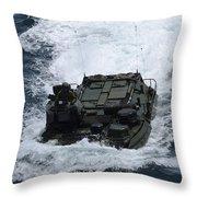 An Amphibious Assault Vehicle Throw Pillow