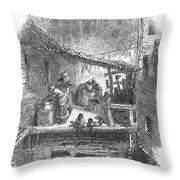 Arkansas: Hot Springs, 1878 Throw Pillow