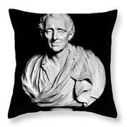 Baron De Montesquieu Throw Pillow
