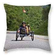 Bicycle Ride Across Georgia Throw Pillow