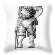 California Gold Rush, 1852 Throw Pillow