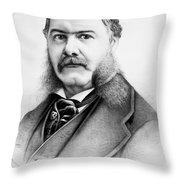 Chester Alan Arthur Throw Pillow
