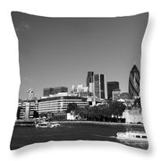 City Of London Skyline Throw Pillow