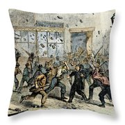 Civil War: Draft Riots Throw Pillow