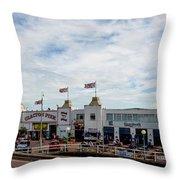 Clacton Pier Throw Pillow