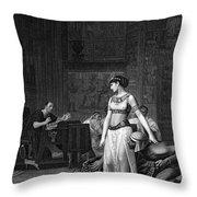 Cleopatra Vii (69-30 B.c.) Throw Pillow