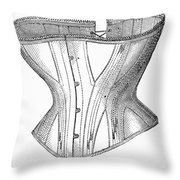 Corset Advertisement, 1869 Throw Pillow