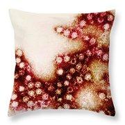 Coxsackie B4 Virus, Tem Throw Pillow