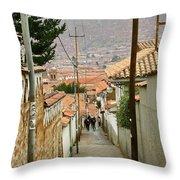 Cusco Peru Street Scenes Throw Pillow