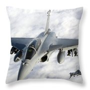 Dassault Rafale B Of The French Air Throw Pillow