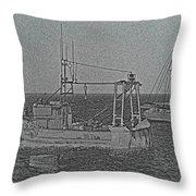 Fishing Boats Art Throw Pillow