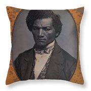 Frederick Douglass, African-american Throw Pillow by Photo Researchers