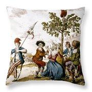 French Revolution, 1792 Throw Pillow