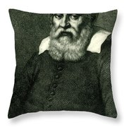 Galileo Galilei, Italian Polymath Throw Pillow