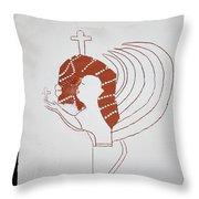 Guardian Angel Throw Pillow by Gloria Ssali
