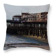 Hastings Pier Throw Pillow