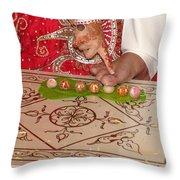 Hindu Wedding Ceremony Throw Pillow