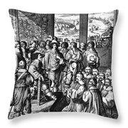 Louis Xiii (1601-1643) Throw Pillow by Granger