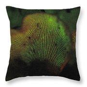 Luminescent Mushroom Panellus Stipticus Throw Pillow