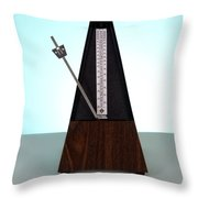 Metronome Throw Pillow