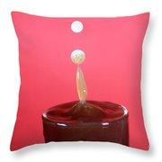 Milk Splash Throw Pillow