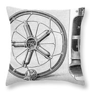Motorcycle, 1895 Throw Pillow